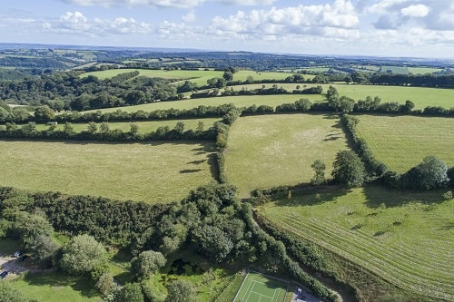Aerial View of Exmoor Countryside