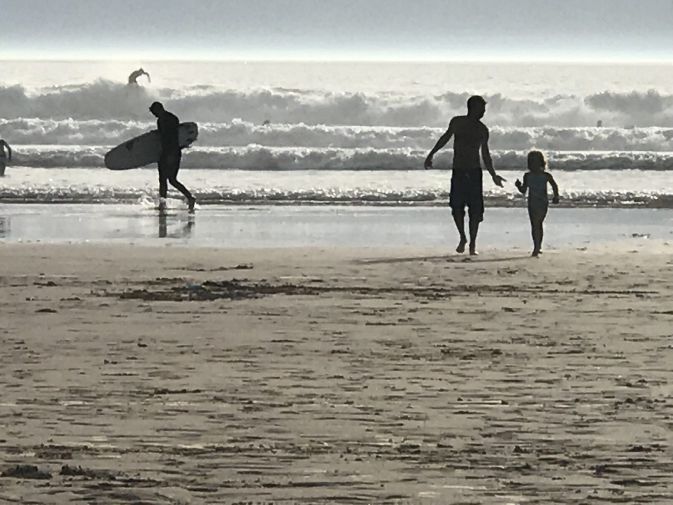 surfing Woolacombe beach